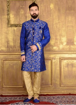 Blue Indo Western Suits for Men
