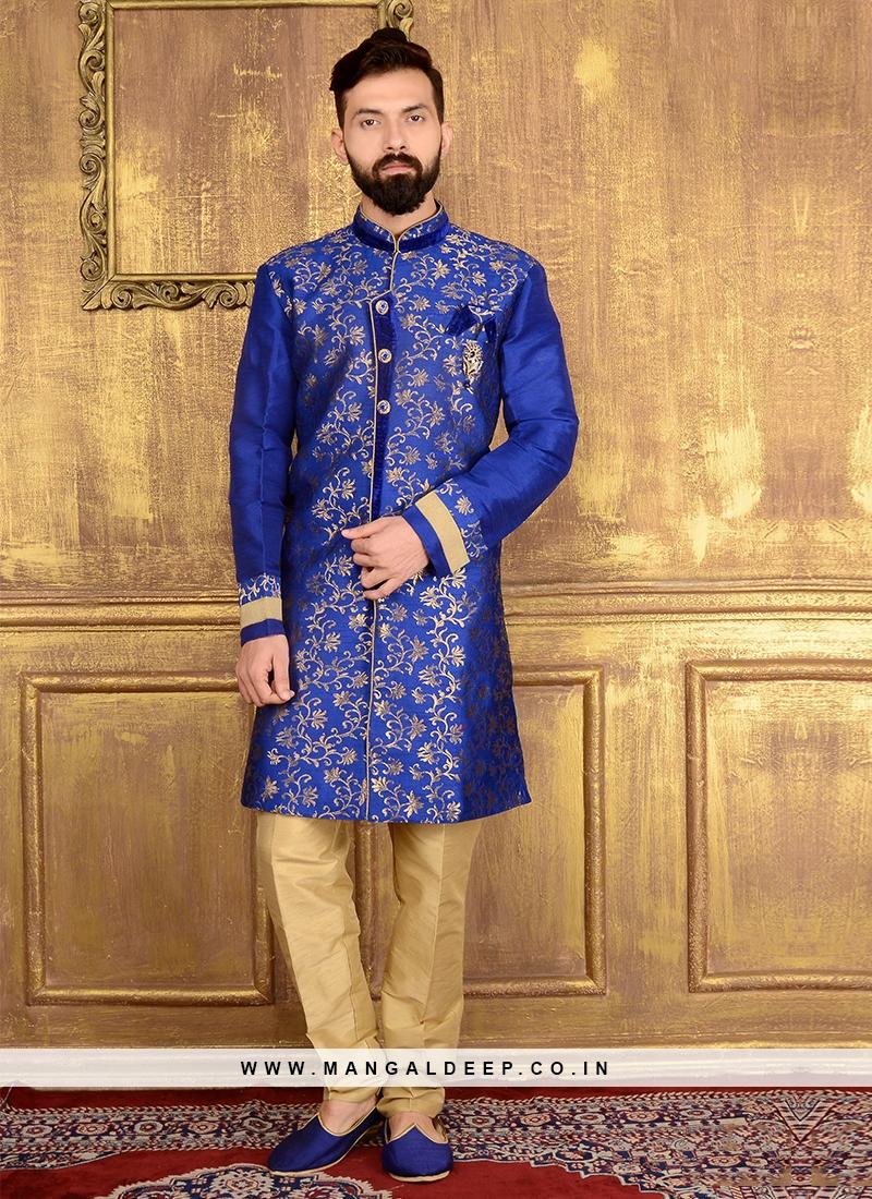 Blue Indo Western Suits for Men