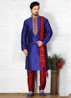 Blue Kurta Pajama For Sangeet Function