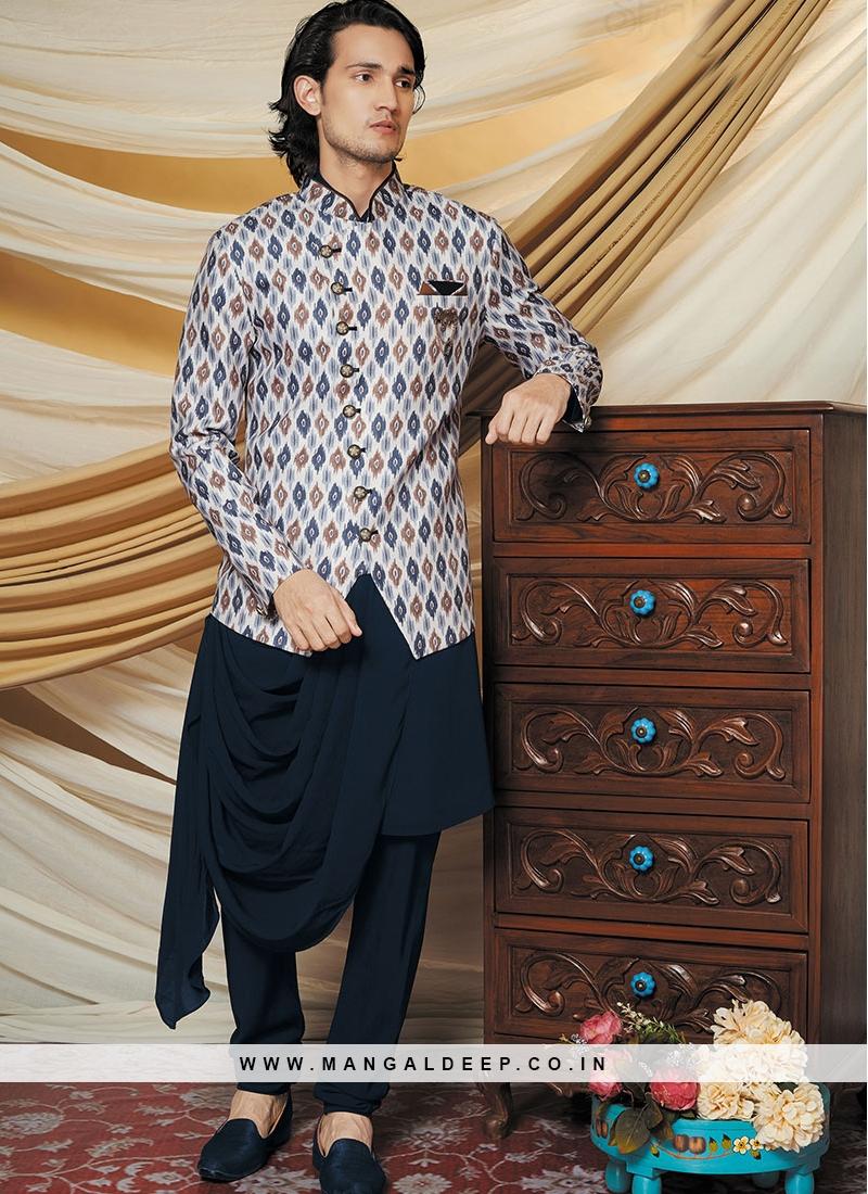 Blue Stylish Kurta With Jacket