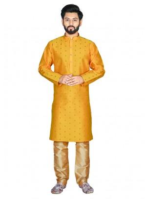 Bold Mustard Color Mens Kurta