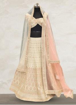 Bridal Wear Off White Color Designer Lehenga Choli
