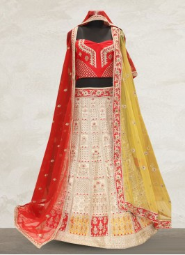 Bridal Wear Off White Color Designer Lehenga Choli