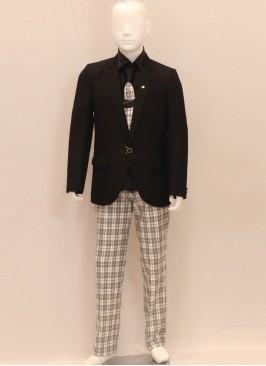 Charming Black Color Designer Blazer For Kids