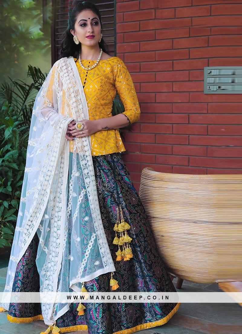 Charming Blue Color Festive Wear Designer Lehenga Choli
