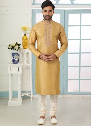 Charming Multi Color Festive Wear Art Silk Kurta Pajama
