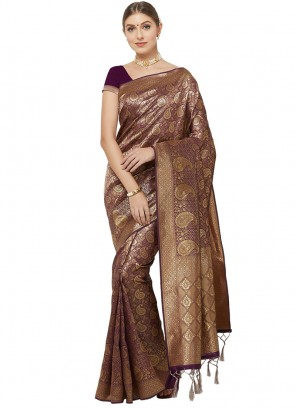 Charming Multi Color Function Wear Saree
