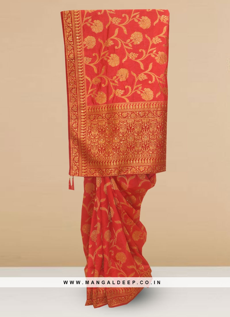 Charming Multi Color Party Wear Saree In Silk Fabric