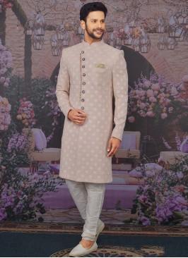 Charming Pink Color Men Sherwani For Wedding