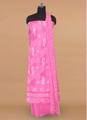 Charming Pink Color Party Wear Designer Salwar Kameez