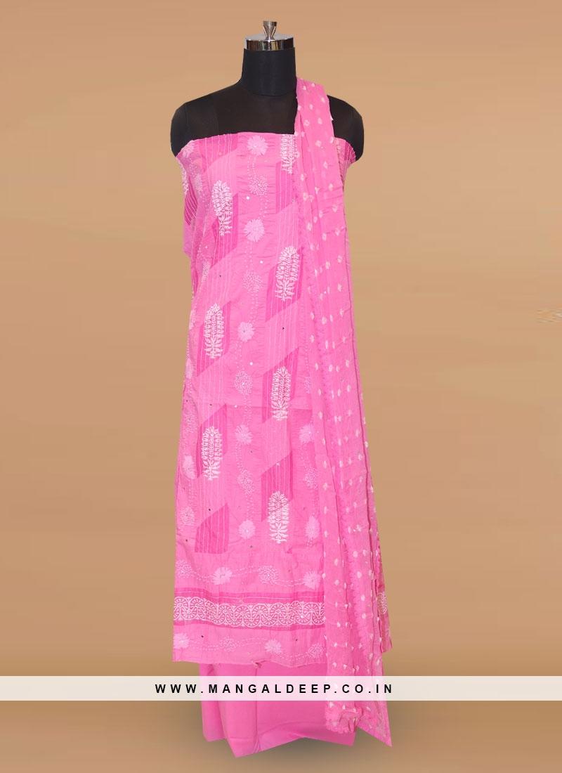 Charming Pink Color Party Wear Designer Salwar Kameez