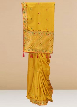 Charming Yellow Color Function Wear Designer Saree