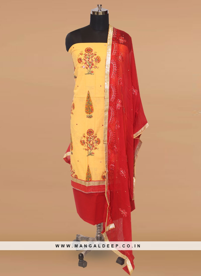 Charming Yellow Color Party Wear Designer Salwar Kameez