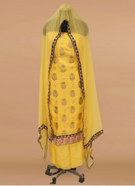 Charming Yellow Color Party Wear Designer Salwar Kameez