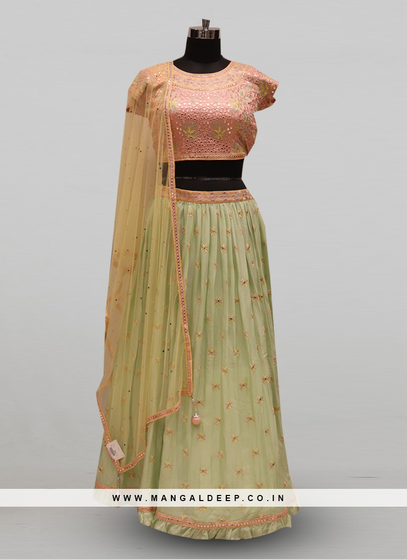 Classic Green Color Function Wear Designer Lehenga Choli