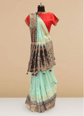 Classic Green Color Function Wear Saree