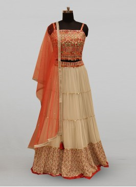 Classic Grey Color Function Wear Designer Lehenga Choli