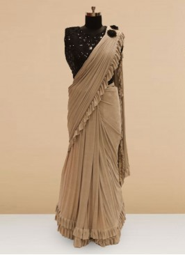 Classic Grey  Color Party Wear Saree