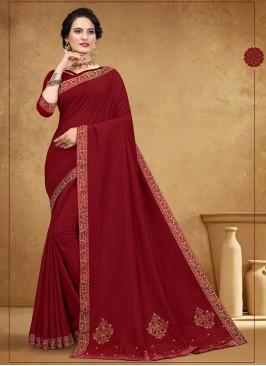 Classic Silk Saree In Maroon