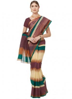 Cotton Multi Color Printed Saree