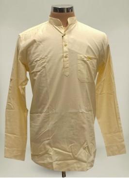 Cream Color Cotton Casual Wear Kurta