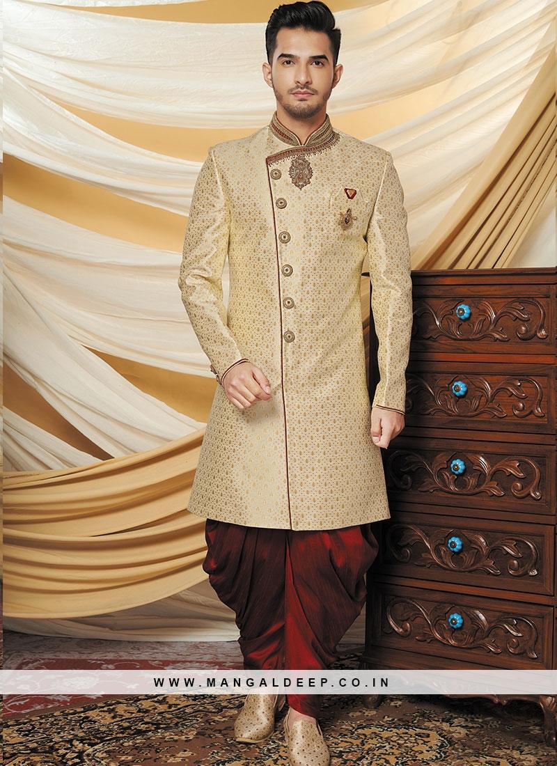 Cream Color Indo Western Set
