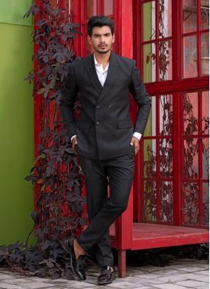 Crisp And Buttoned Black Suit