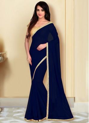 Daily Wear Saree In Black Color