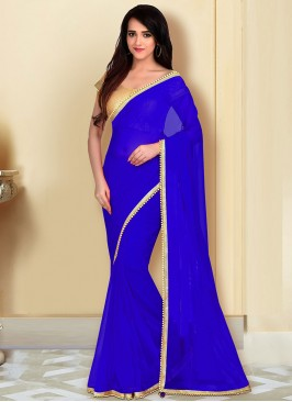 Daily Wear Saree In Blue Color