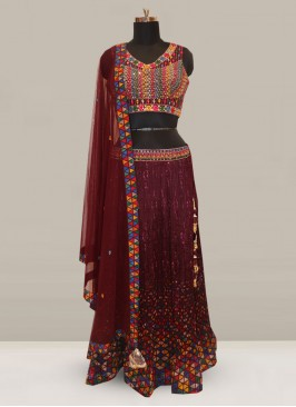 Dazzling Multi Color Party Wear Designer Lehenga Choli