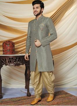 Designer Grey Color Indo Western