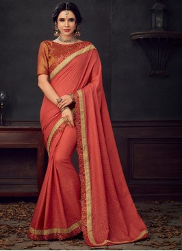 Designer Party Wear Fancy Multi Color Saree