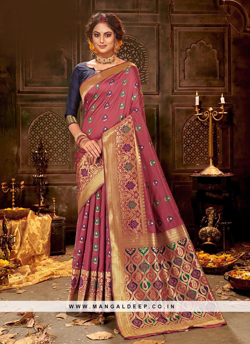 Designer Party Wear Fancy Multi Color Silk Saree