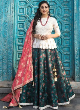 Designer Sangeet Function Wear Fancy Multi Color Lehenga Choli