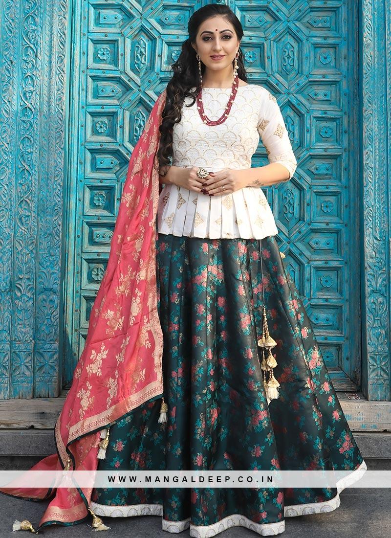 Designer Sangeet Function Wear Fancy Multi Color Lehenga Choli