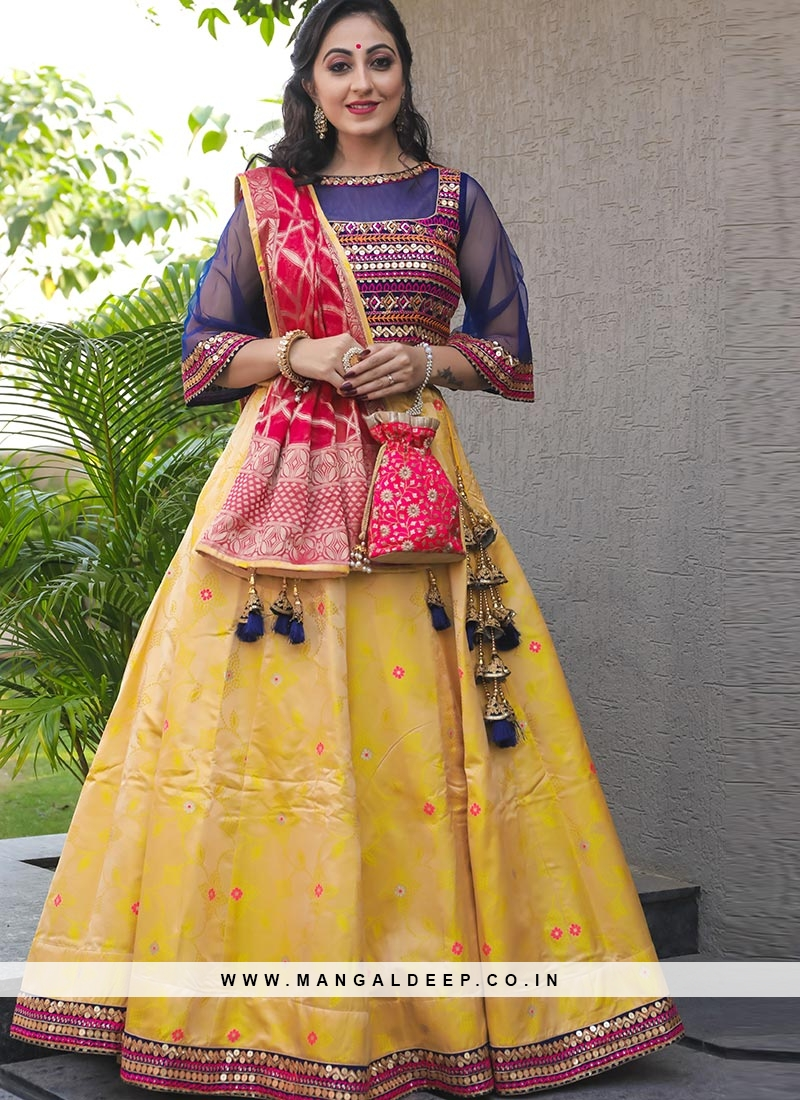 Designer Sangeet Function Wear Fancy Yellow Color Lehenga Choli