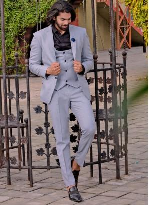 Distinctive Grey Suit Set