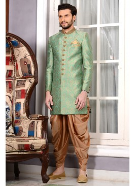 Elegant Sea Green Indo Western Attire