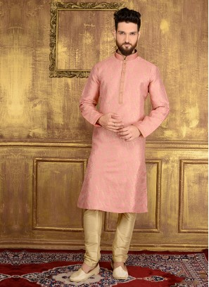 Engagement Kurta In Pink Colour