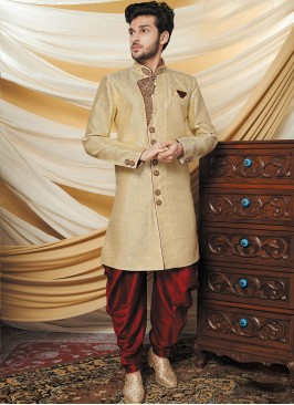 Enigmatic Cream Indo-western Kurta Set