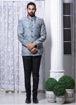 Eternal Grey Jodhpuri Suit