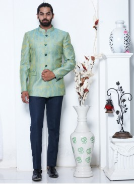 Eternal Turquoise Jodhpuri Suit