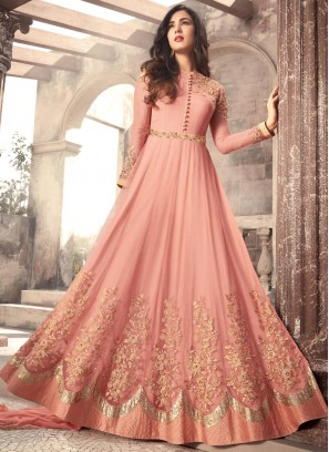 Exquisite Net Floor Length Anarkali Suit