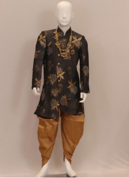 Fabulous Black Color Designer Kurta Pajama For Kids