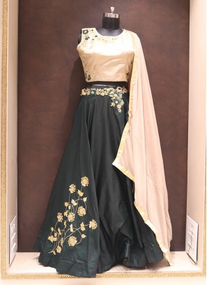 Fabulous Black Color Designer Silk Fancy Lehenga Choli