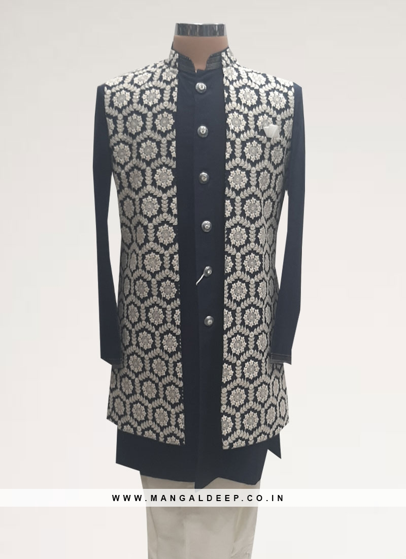 Fabulous Black Color Men Kurta Pajama