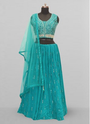 Fabulous Green Color Function Wear Lehenga Choli