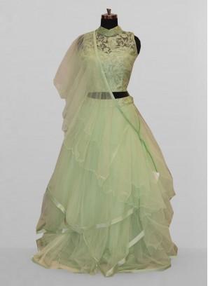 Fabulous Green Color Function Wear Lehenga Choli