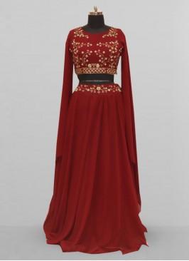 Fabulous Maroon Color Function Wear Lehenga Choli