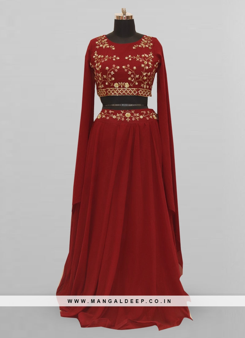 Fabulous Maroon Color Function Wear Lehenga Choli